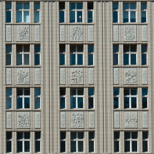 Front of a Building, Karl-Marx-Allee in Berlin